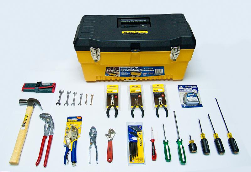 Tools Comboset เครื่องมือช่างแบบเป็นชุด พร้อมกล่องเก็บเครื่องมือ