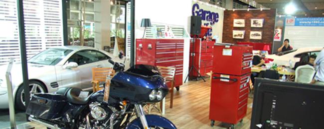 ตู้เครื่องมือ remline ร่วมกับ นิตยสาร garagelife ในงาน used car